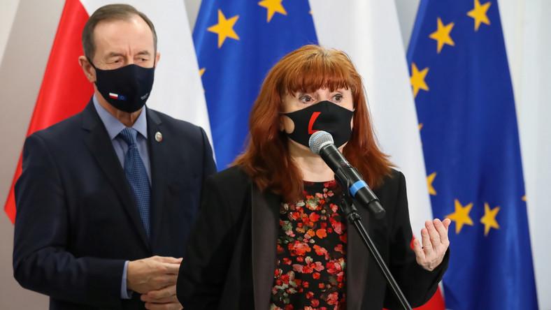 Marszałek Senatu RP Tomasz Grodzki i posłanka Lewicy Małgorzata Prokop-Paczkowska
