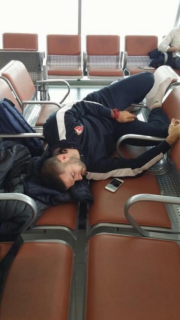 Branko Lazić na aerodromu u Kazanju