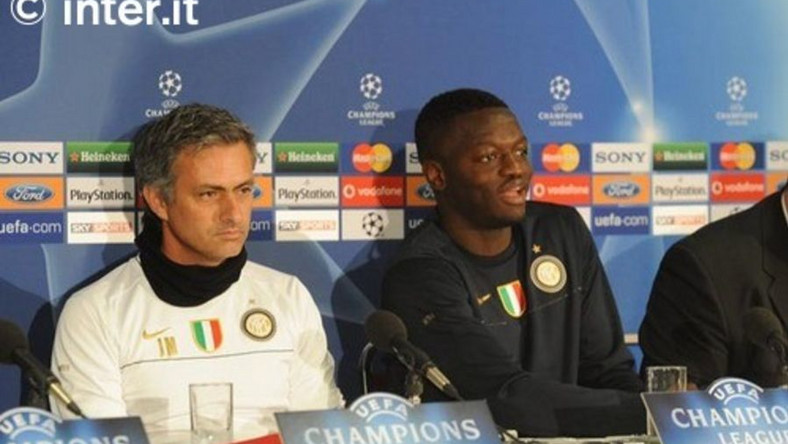 Jose Mourinho and Sulley Muntari