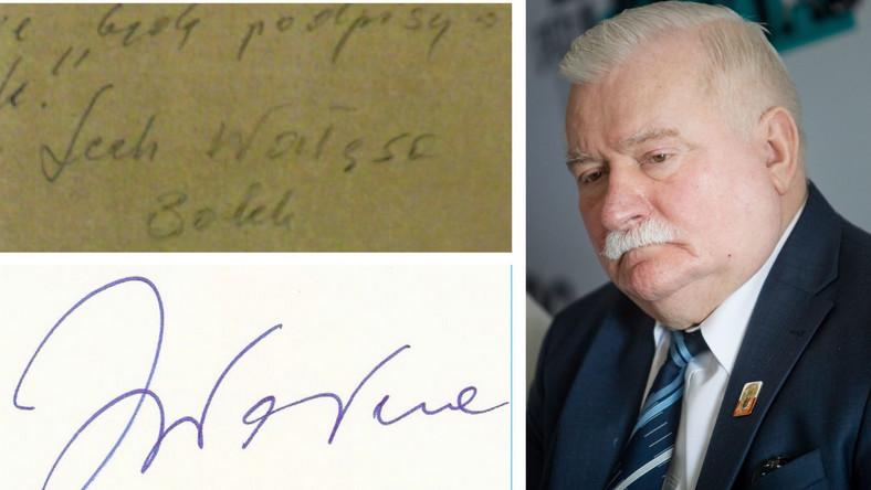 Podpisy Lecha Wałęsy - z dokumentów z szafy Kiszczaka oraz współczesny