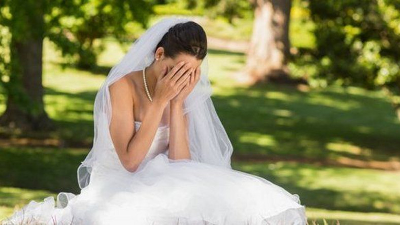 Image result for sad wedding bride