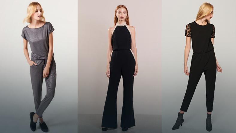 0484d902a5 Kombinezon wieczorowy. Czarny kombinezon. Eleganckie spodnie ...