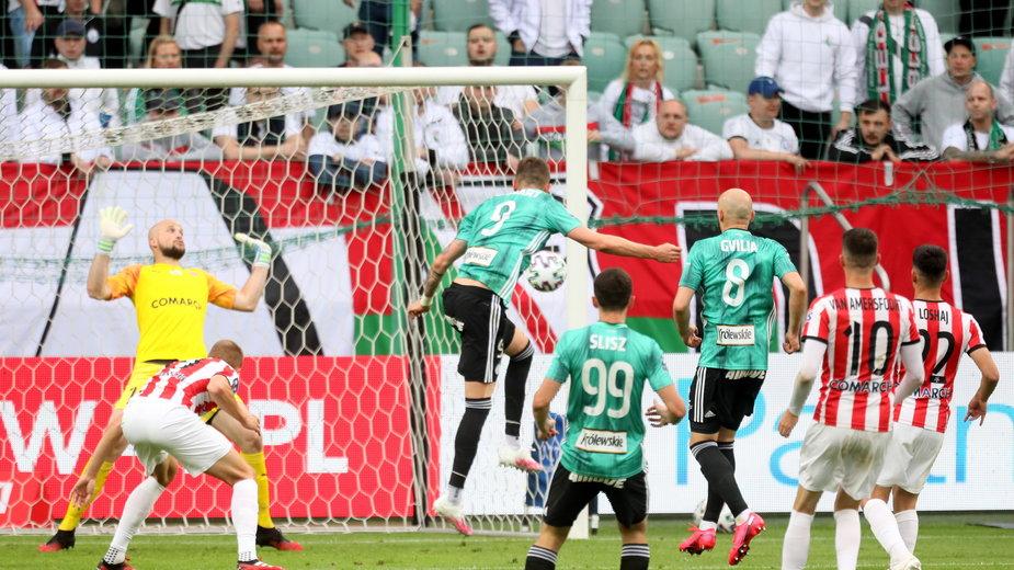 Legia Warszawa w meczu decydującym o mistrzostwie Polski