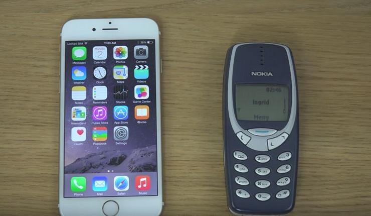 Ajfon 6 i Nokia 3210