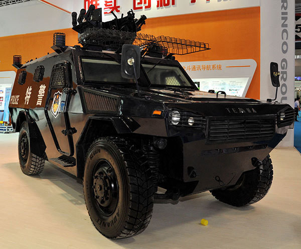 Norinco VN4 armoured personnel carriers. (People's Daily)