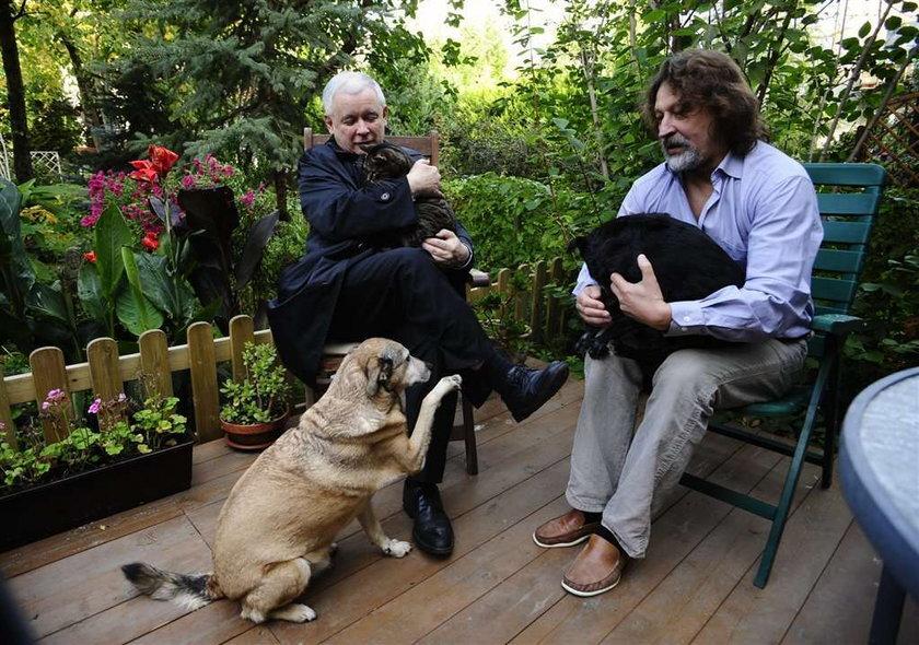 Kaczyński bawi się z kotem. Tęskni za Alikiem? FOTY