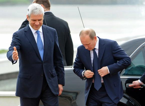 Doček Vladimira Putina ispred Palate Srbije