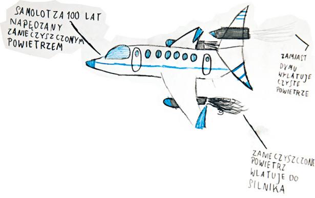 Rysunek Mateusza, lat 13