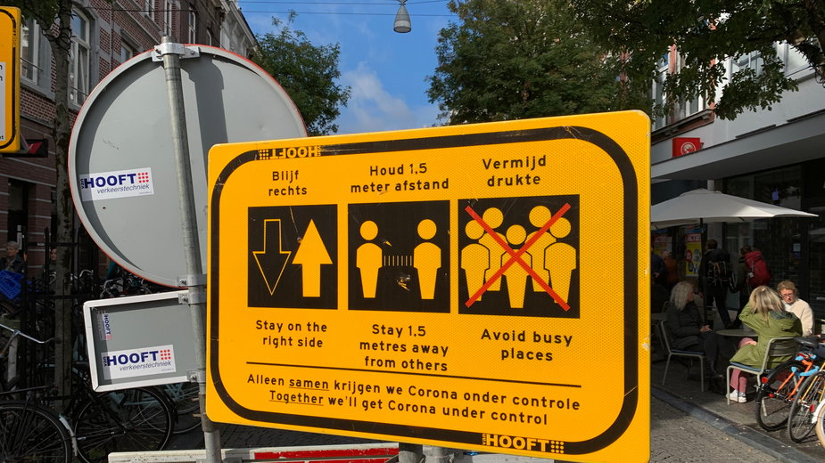 Obostrzenia na ulicach Holandii