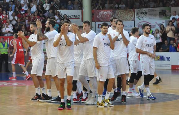 Košarkaši Srbije posle meča protiv Borca