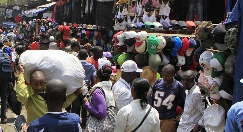 A section of Gikomba market.