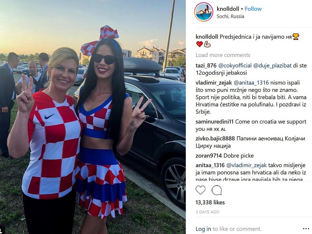 Sa najpoznatijom navijačicom Hrvatske