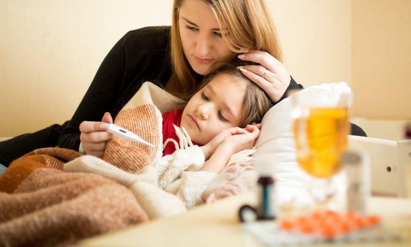 Jesienią dzieci często dopadają różne choroby