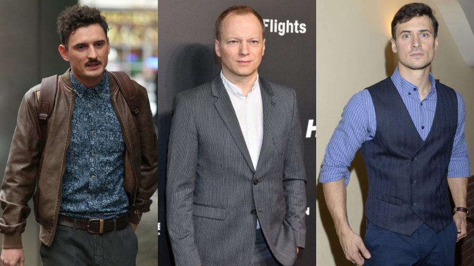 Dawid Podsiadło (MW Media, fot. Paweł Wrzecion), Maciej Stuhr (AKPA, fot. Piętka Mieszko) i Mateusz Damięcki