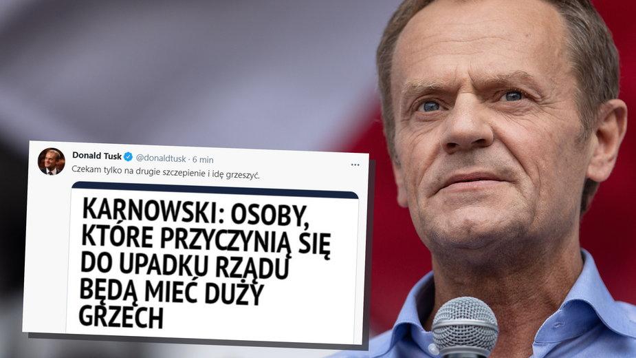 Donald Tusk zareagował na wypowiedź Michała Karnowskiego