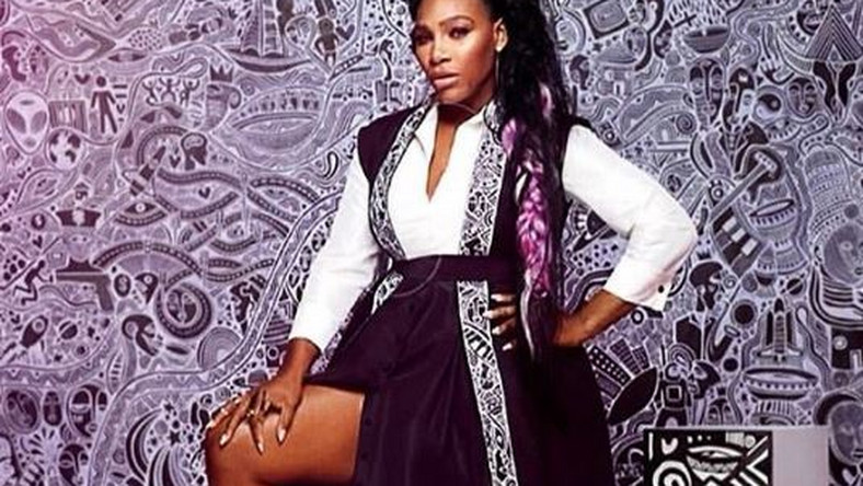 Serena Williams stuns in a kimono by Nigerian designer Jane Michael Ekanem [Credit: Instagram/ Jane Michael Collection]