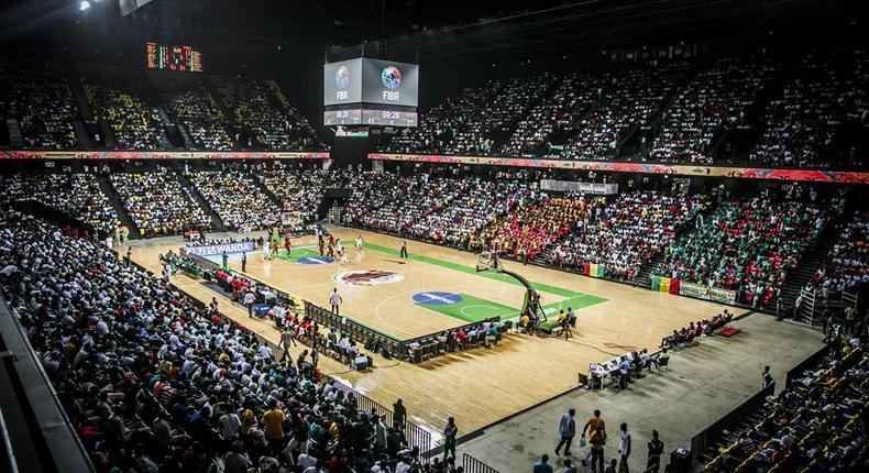 Le stadium Dakar-Arena lors d'une rencontre entre le Sénégal et l'Angola - Afrobasket