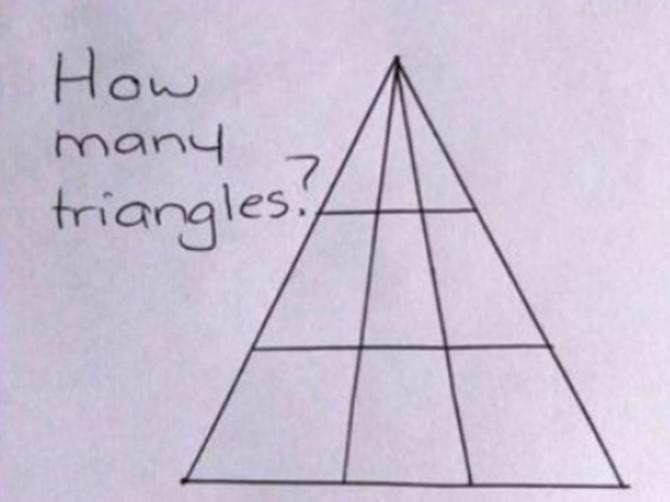 Deluje lako, ali SAMO DELUJE: Niko ne zna koliko je ZAPRAVO trouglova na ovoj slici - da li vi znate TAČAN ODGOVOR?
