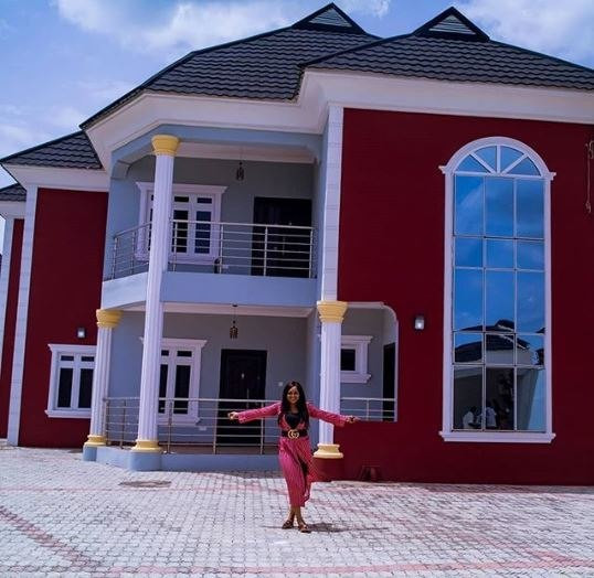 Mercy Aigbe and her beautiful newly acquired mansion