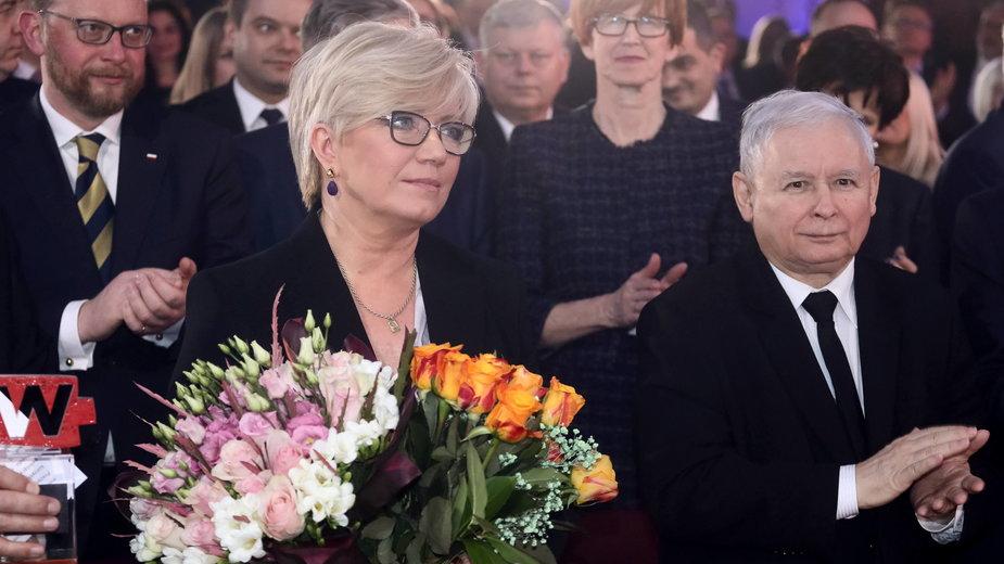 Niewygodny wyrok Trybunału dla PiS [ANALIZA]. Na zdjęciu prezes Trybunału Konstytucyjnego Julia Przyłębska i prezes PiS Jarosław Kaczyński w 2018 r.