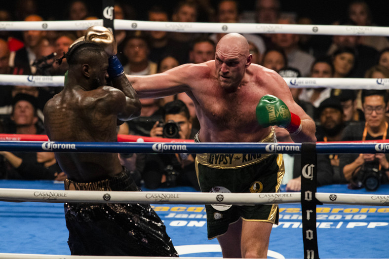 Fury in action against Deontay Wilder.