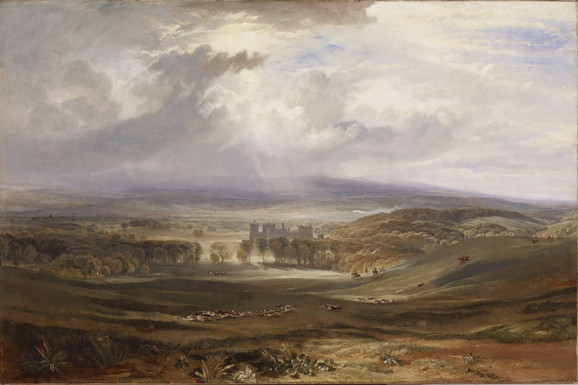 William Turner, Raby Castle, the Seat of the Earl of Darlington, 1817