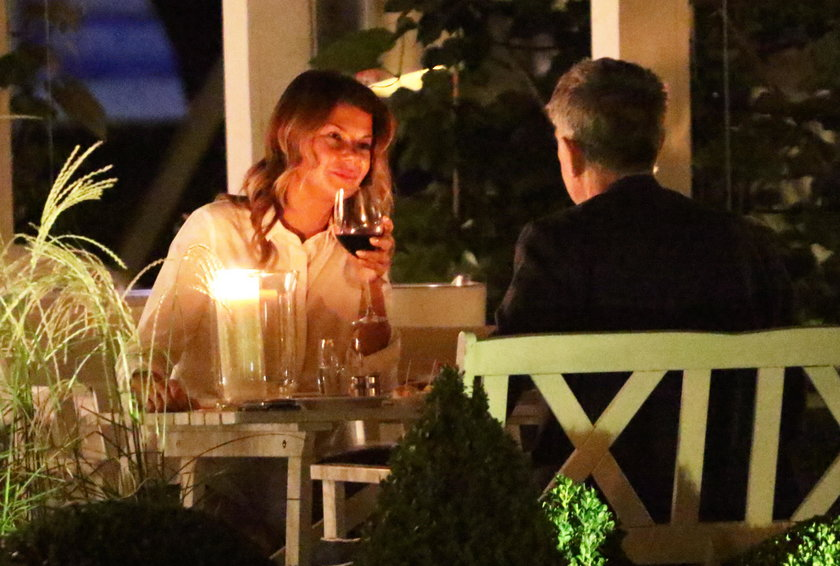 Edyta Górniak i David Foster w restauracji