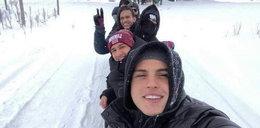 Piłkarze Lechii integrują się w śniegu. Z kopyta kulig rwał!