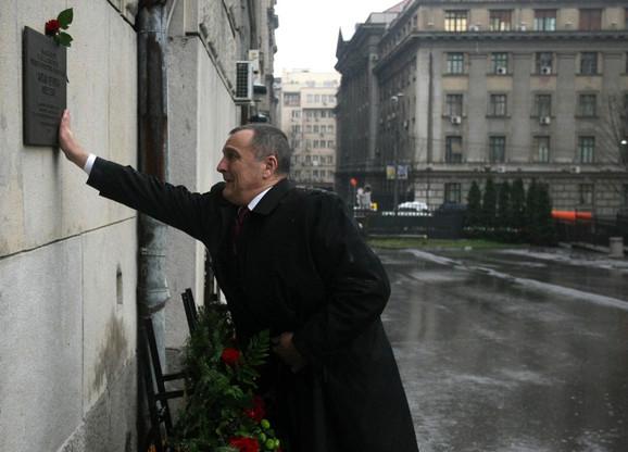 Zoran Živković na mestu Đinđićevog ubistva