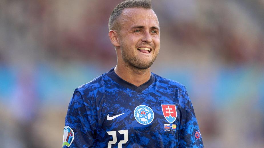Stanislav Lobotka w barwach reprezentacji Słowacji