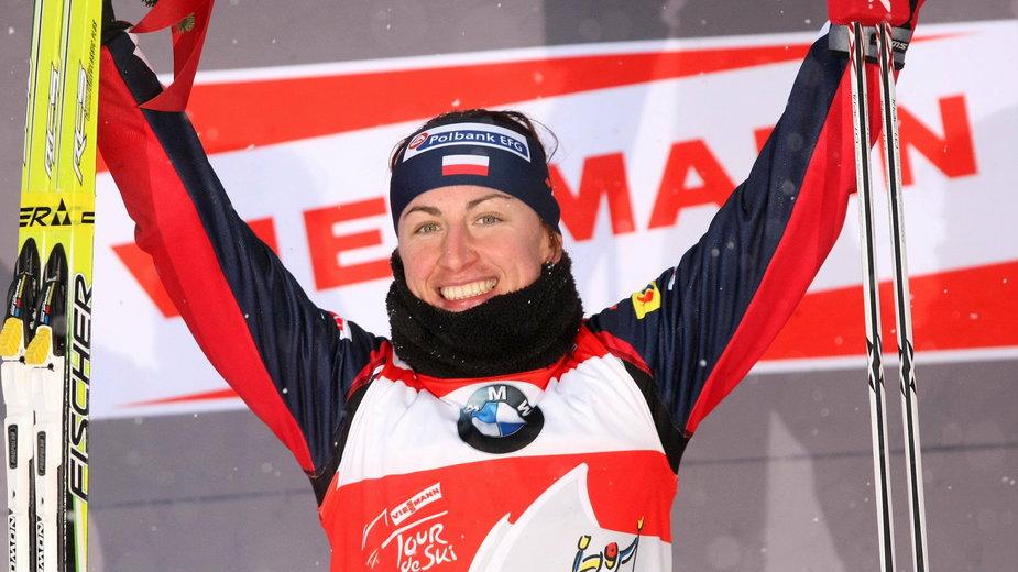 Justyna Kowalczyk podczas Tour de Ski 2010/2011