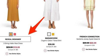 Why TJ Maxx and Marshalls sometimes hide the name of their designers from online shoppers