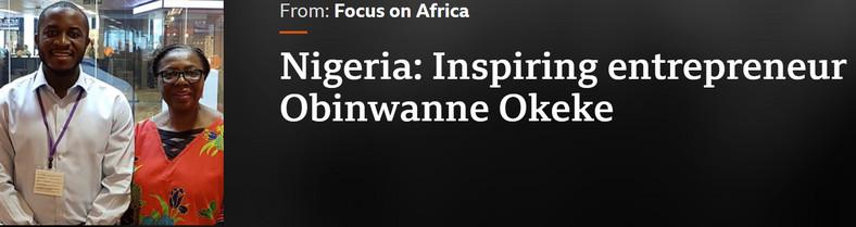 Okeke's 2018 BBC interview