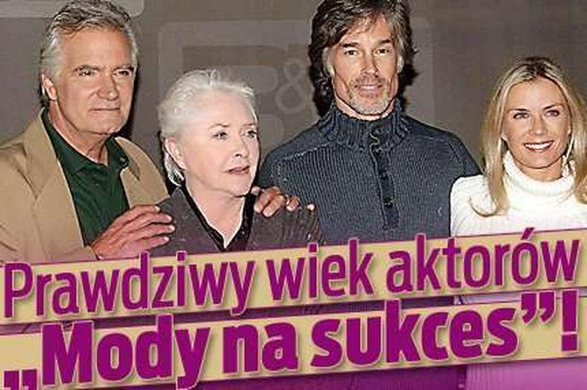 """Prawdziwy wiek aktorów """"Mody na sukces""""!"""