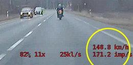 18-latek gnał motocyklem ponad 200 km/h. Nie miał nawet prawa jazdy!