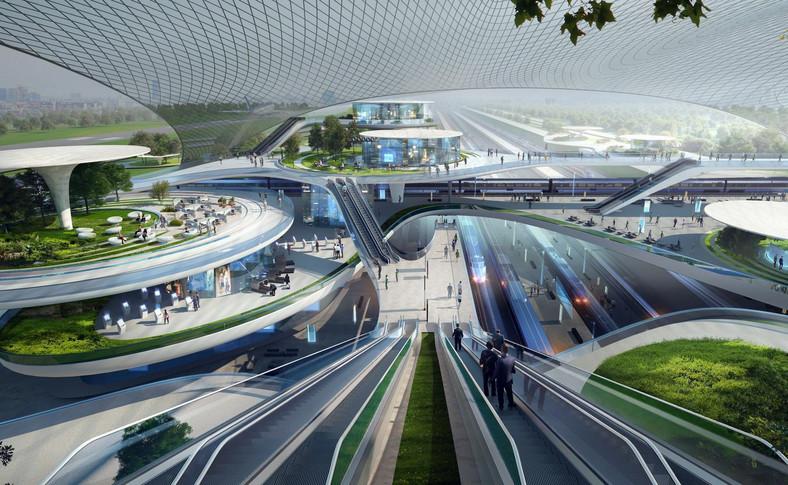 07 Terminal CPK. Koncepcja Zaha Hadid Architects