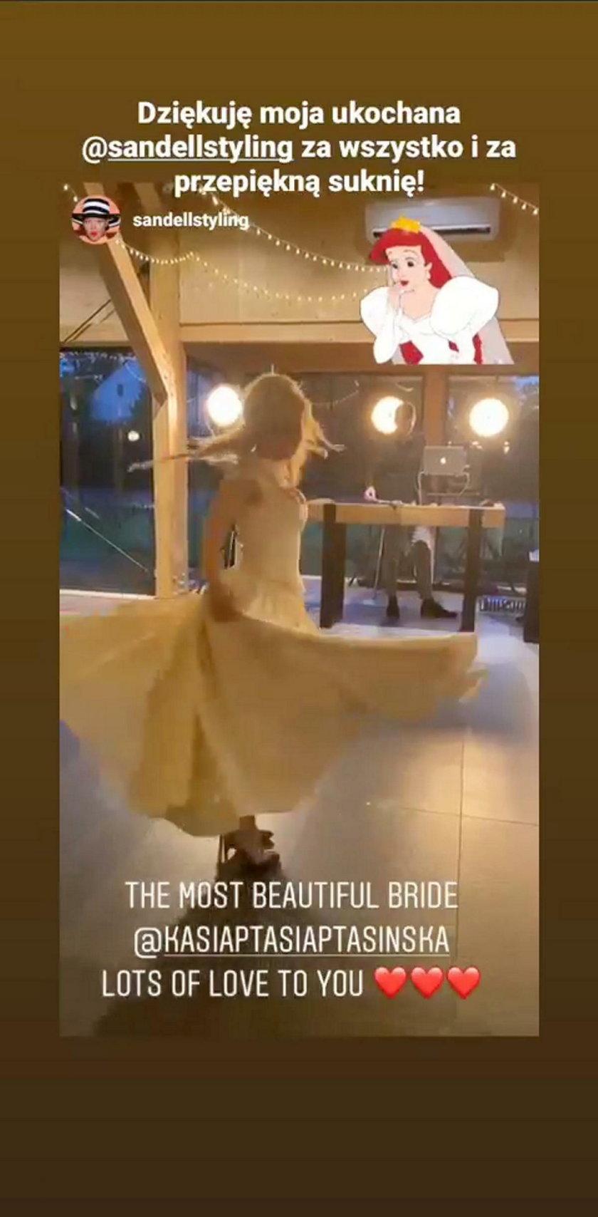 Ślub Katarzyny Ptasińskiej