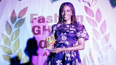 Victoria Michaels honoured for her 'Iconic Excellence and Hard work' in pushing Ghanaian Fashion.