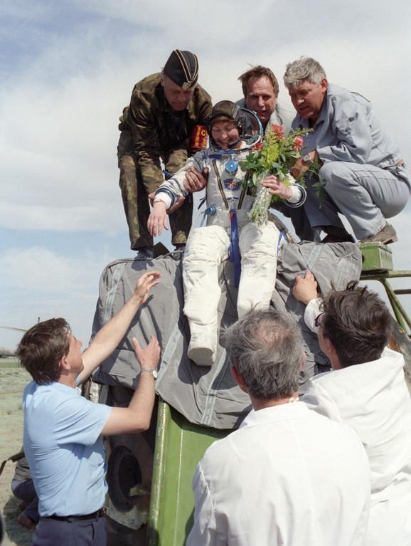 Helen Šarman po povratku sa svemirske stanice
