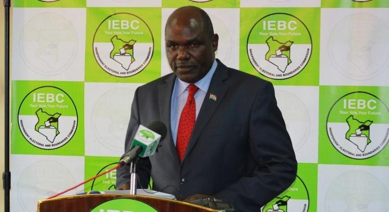 IEBC chairman Wafula Chebukati
