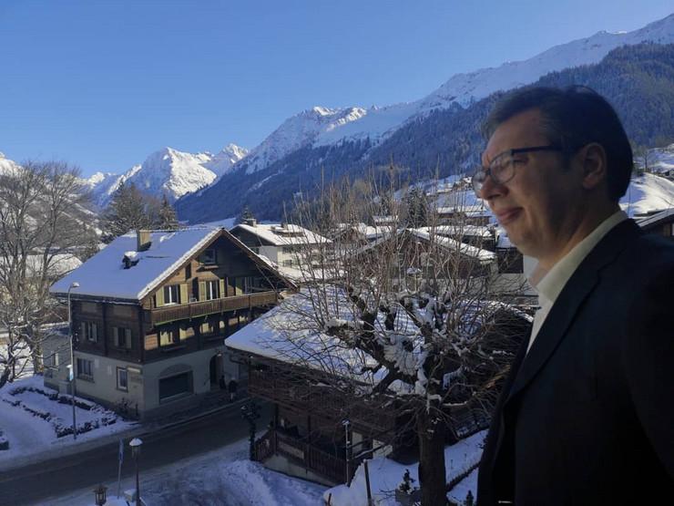 Vučić, Davos
