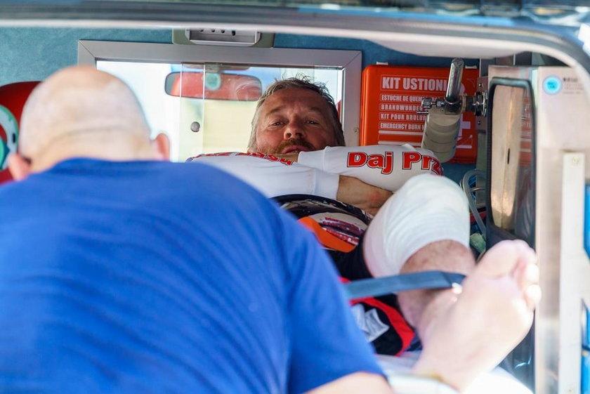 Sonik w szpitalu po wypadku. Uratował go kolega