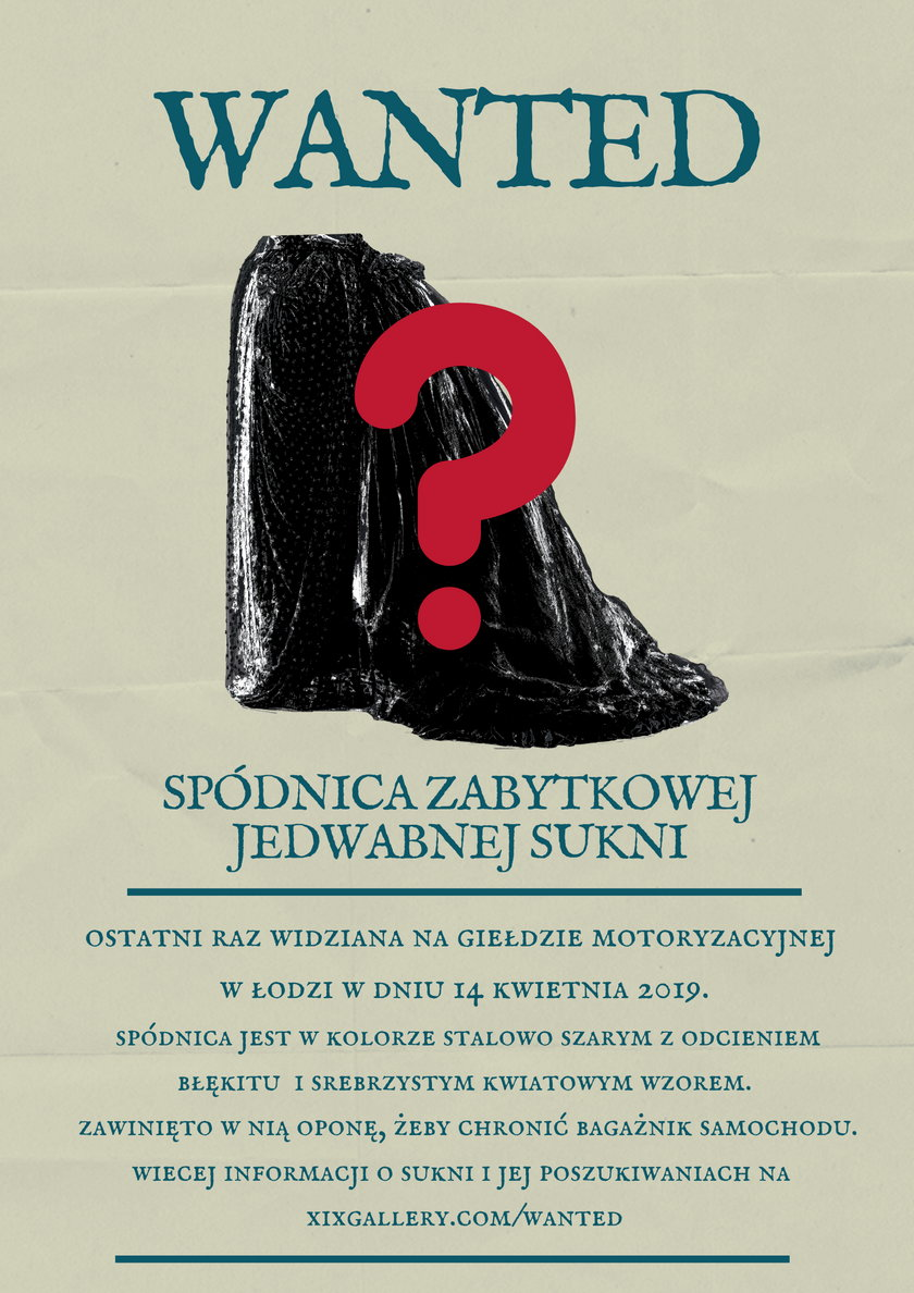 Poznań: poszukiwana zabytkowa spódnica. Zawinięto w nią oponę