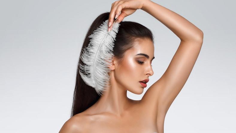 Piękne włosy kobiety