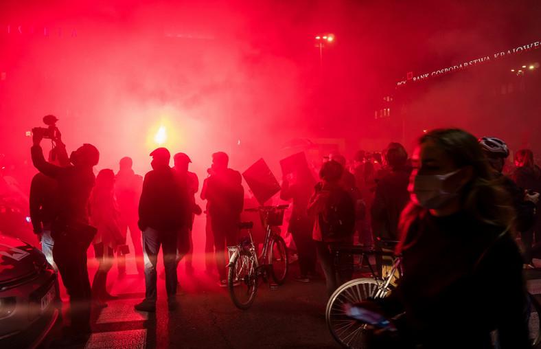 Protest na ulicach Warszawy (fot. Justyna Karpińska)