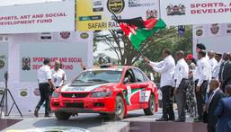 President Uhuru Kenyatta officially flags off the 2021 WRC Safari Rally