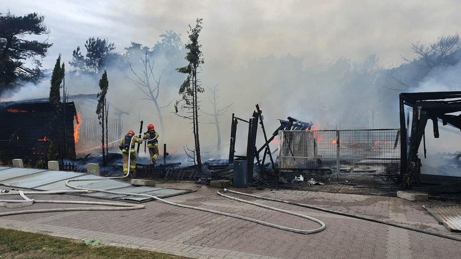Pożar rancza w Gdańsku