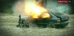 Pod Warszawą wybuchło auto. Kto za tym stoi?