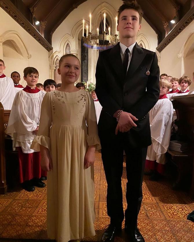 Harper i Kruz Bekam na krštenju
