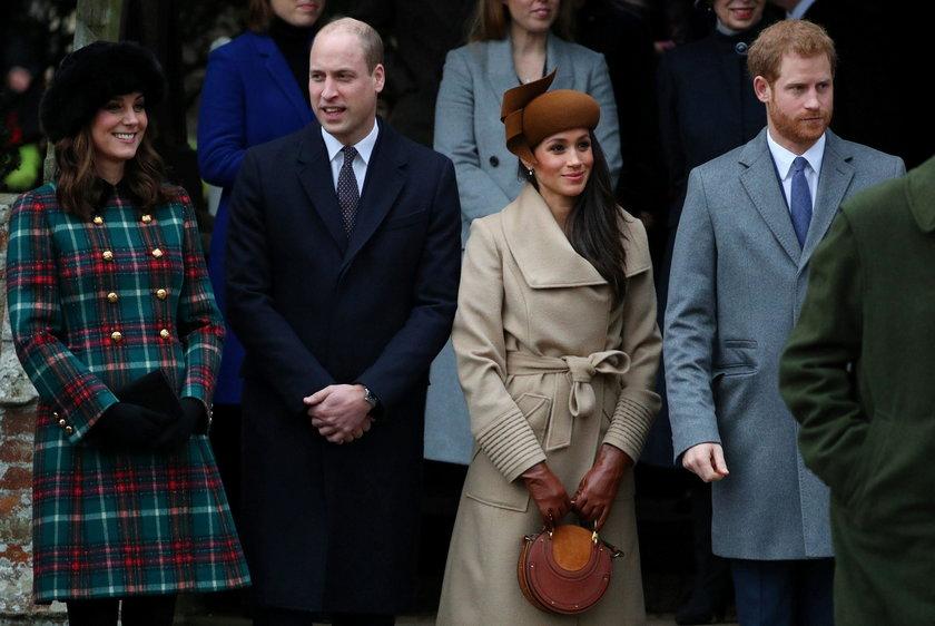 Księżna Kate, książęWilliam, Meghan Markle i książę Harry